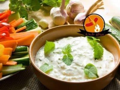 طريقة عمل سلطة الزبادى بالخيار بالنعناع Yogurt with mint and cucumber