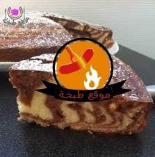 طريقه عمل كيكه الفانيليا والكاكاو لونين نص ونص Vanilla and Cocoa Cake