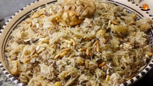 طريقة الرز بالحمص باللحم
