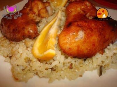 طريقة عمل الدجاج بالبرتقال فى الفرن Chicken with orange