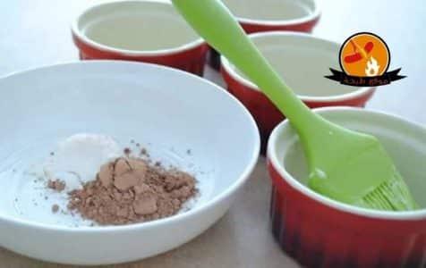 طريقة عمل المولتن كيك بالكاكاو بالمايكرويف بالصور Chocolate Cake