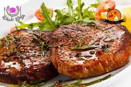 طريقة عمل ستيك اللحم بصوص البرتقال أو صوص الفلفل بالكريم