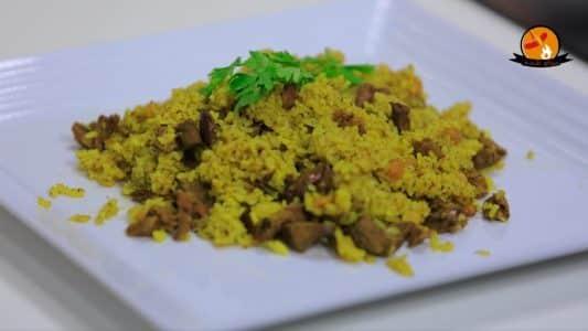 طريقة عمل ارز بالكبد والقوانص للشيف نجلاء